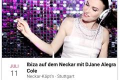 DJane Alegra Cole lädt zu Ibiza auf dem Neckar