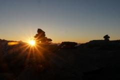 Sonnenaufganimpressionen vom Eggishorn