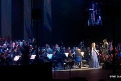 Maria Aleida, Sopranistin in bei der Andrea Bocelli Tour Stuttgart