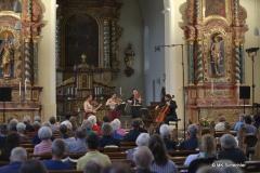 Das Aris Quartett in der Stiftskirche des Chorherrenstifts Öhningen am Bodensee