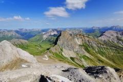 Blick auf einen Streckenabschnitt des Trails bei der Erlispitze