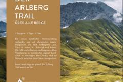 Plakat zur Arlberg Trail Eröffnung August 2021