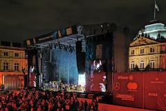 Bühnentotale beim Konzert