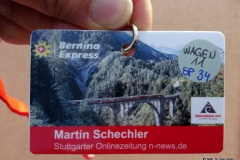 Fahrkarte für die Jungfernfahrt