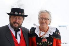 Begrüßung auf der Diavolezza durch ein Alphornbläser-Duo aus dem nahen Samedan