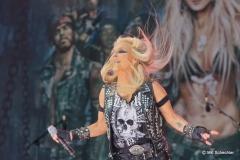 """Dorothee Pesch - Künstlername """"Doro"""" - ist bekannt geworden als Sängerin der Band Warlock"""