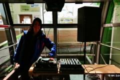 Mischpult in der Gondel: Minidisco mit Ausblick