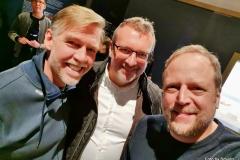 Redakteur MK Schechler mit And.Ypsilon und Smudo