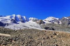 Die Kante unten markiert den Gletscherstand aus dem Jahr 1850