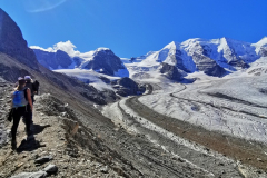 Die Kante markiert den Gletscherstand aus dem Jahr 1850