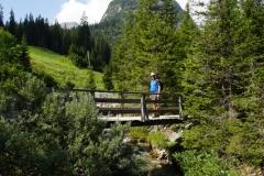 Holzbrücke am Lech