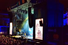 Schlossplatz Bühne bei Auftritt Liam Gallagher