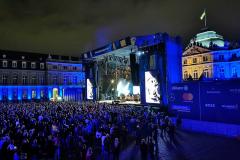 Der erste Konzerttag auf dem Schlossplatz neigt sich dem Ende