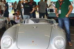 Da steht er, der James Dean Porsche des Porsche Museums