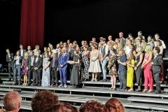 Auch die anschließende Premierenfeier dauerte bis lange nach Mitternacht, auch Vorstellung des Teams durch Festspiel-Intendantin Elisabeth Sobotka mit heftigem Applaus und 'Bravo!' Rufen.