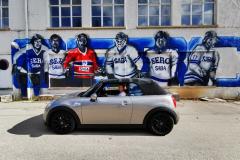 Schon bei der Anfahrt auf das ehemalige SABA Gelände Villingen die ersten Graffiti
