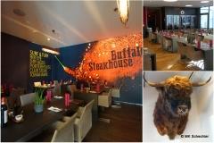 "Danach Hunger? Vielleicht ins Restaurant ""Buffalo Steakhouse"" im Zeppelin Hangar"