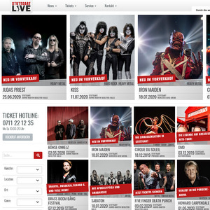 Tickets checken bei Stuttgart Live
