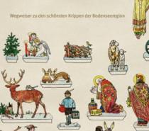 Wegweiser zu Weihnachtskrippen am Bodensee
