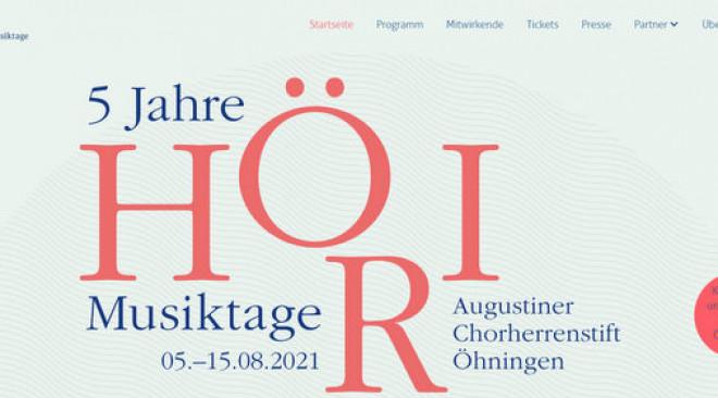 5 Jahre Höri Musiktage – Das Klassikfestival feiert Jubiläum!
