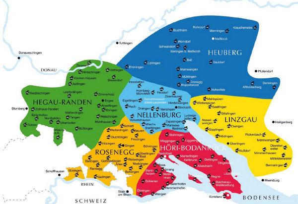 Karte Narrenvereinigung Hegau-Bodensee. Quelle: NVHB